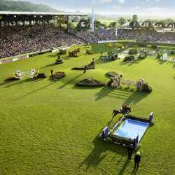 The amazing main stadium at Aachen. Photo by M.Strauch/Aachen 2015.