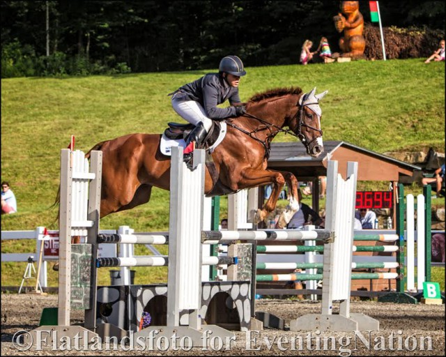 Buck Davidson and Legion Kat on their way to the CIC* win at GMHA. Photo courtesy of Joan Davis/Flatlandsfoto.