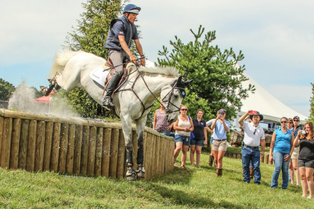 Boyd Martin and Welcome Shadow during the cross country demonstration. Photo by Cindy Lawler.