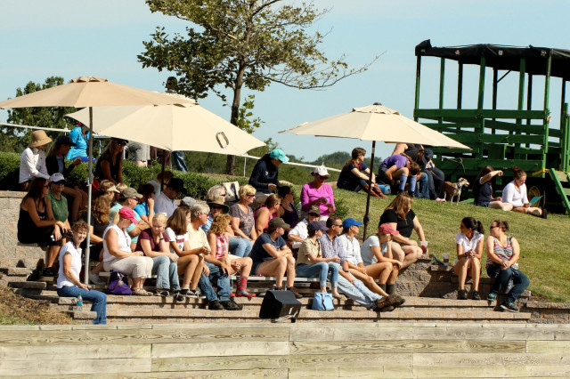Spectators enjoying the beautiful Pennsylvania day during the symposium. Photo by Cindy Lawler.