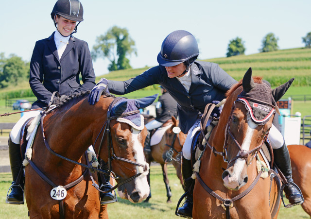 Sloane Pierpont and Indie with Jennie Brannigan and Twilightslastgleam at Millbrook. Photo by Jenni Autry.