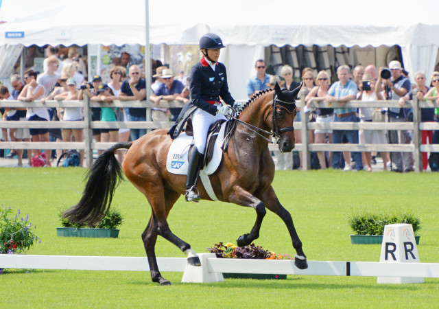 Ingrid Klimke and FRH Escada JS at Aachen CICO3* 2015. Photo by Jenni Autry.
