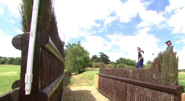 Iconic Cottesmore Leap. Screenshot via Burghley.TV