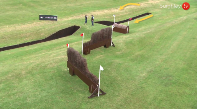 Fence 24AB, Discovery Valley. Screenshot via Burghley.TV
