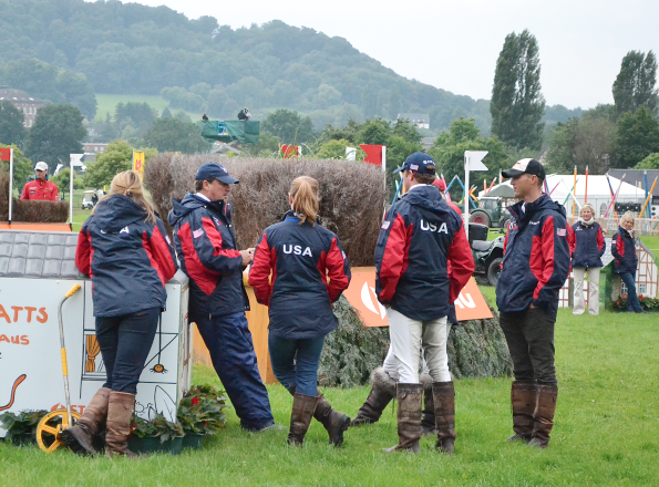 Team USA at Aachen in 2013. Photo by Jenni Autry.
