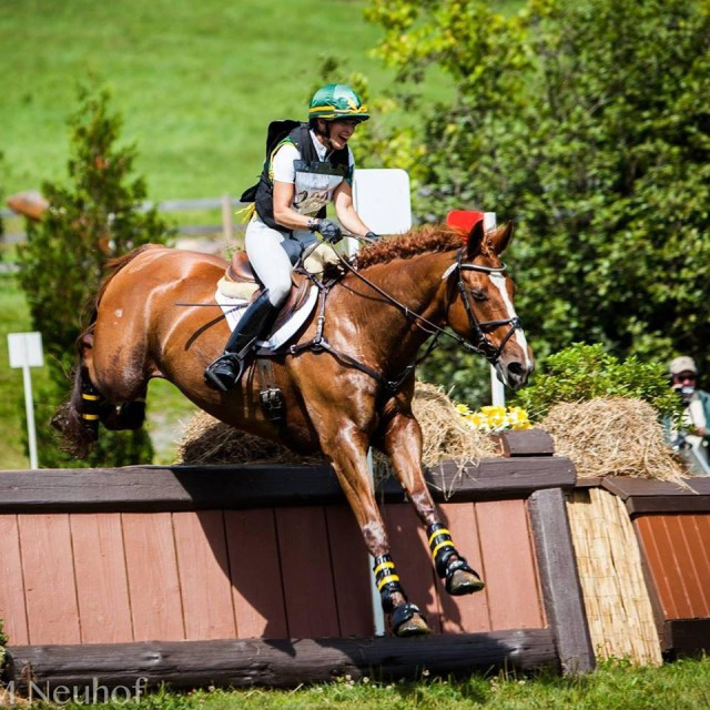Vinnie and ME in our fist CIC, over the corner, one jump away from finishing! Photo: Ashley Neuhof/AMN Photography