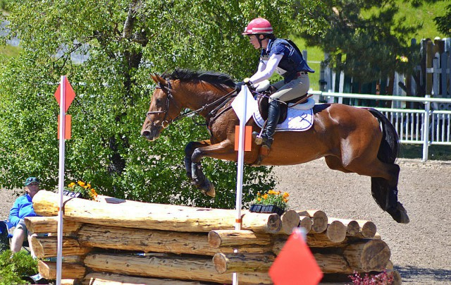 Kelly Prather and D.A. Duras in the 2015 Bromont CC12*. Photo by Leslie Wylie.