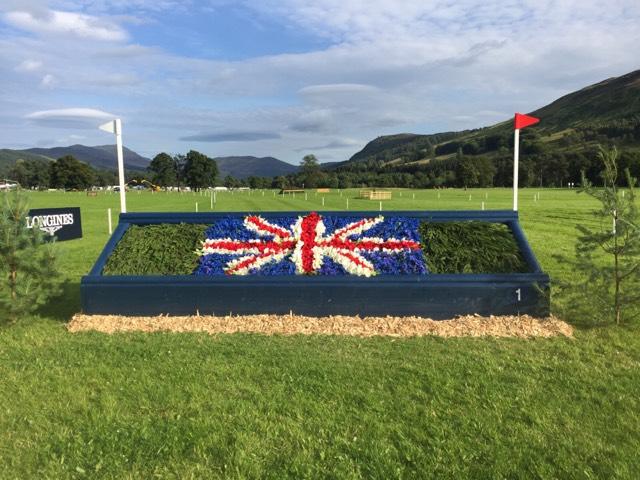 The first fence on Ian Stark's Blair course. Photo via CrossCountry App.