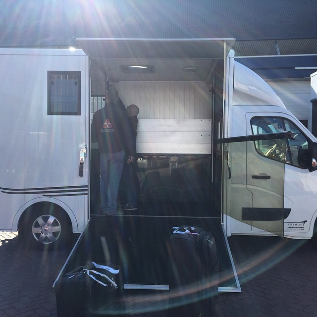 Horseboxes are the coolest! Photo via Jen and Earl McFall's Facebook page