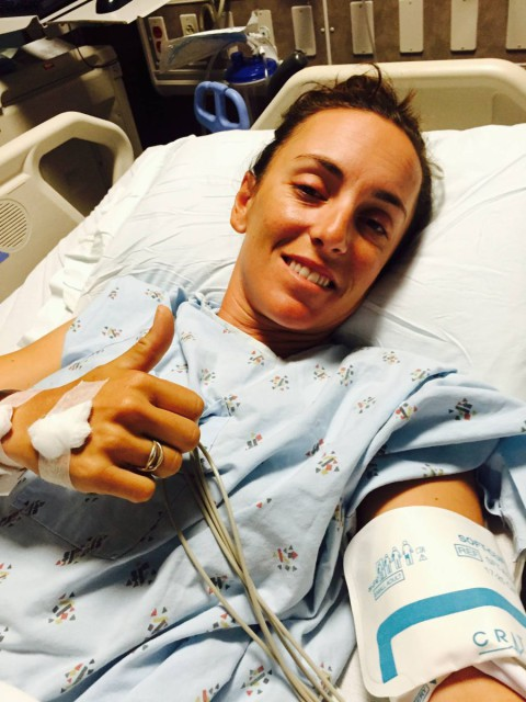 Thumbs up! Photo via Dana Cooke's Facebook page.