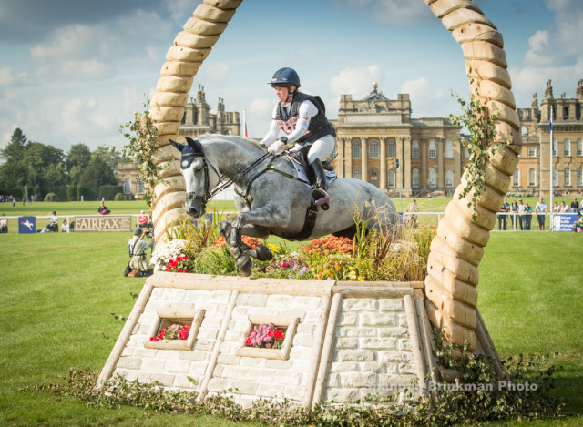 Emily Beshear guides 9 year old Shame on the Moon to a clear round XC at Blenheim Palace CCI3* Photo By Shannon Brinkman