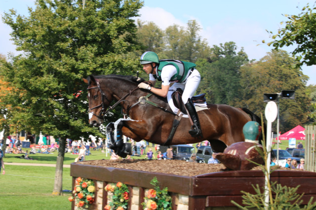 Clark Montgomery and Loughan Glen jump into the lead Blenheim Palace CCI3* Photo by Samantha Clark.