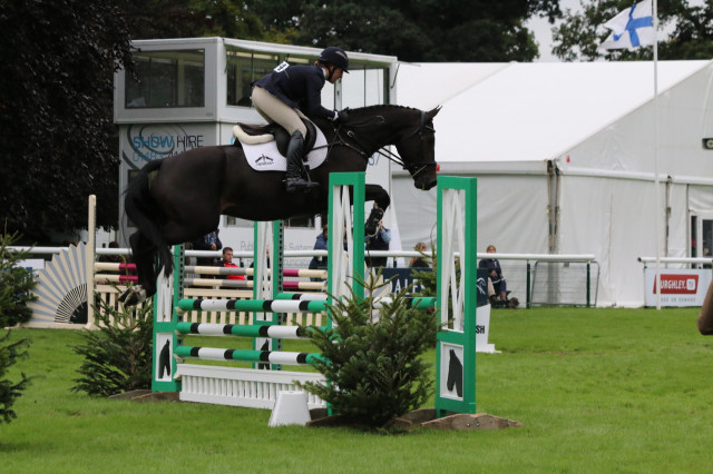 Tiana Coudray competing Rupert in the Four Year Old division of the Burghley Young Event Horse Final