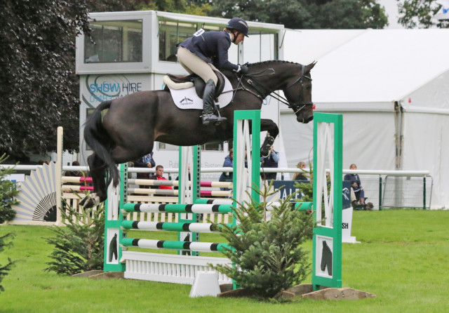 Tiana Coudray competing Rupert in the Four Year Old division of the Burghley Young Event Horse Final. Photo by Samantha Clark.