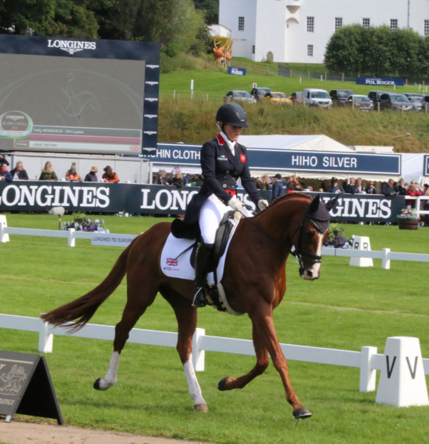 Holly Woodhead and DHI Lupison stun on their Team GBR senior debut slipping into 2nd place after dressage