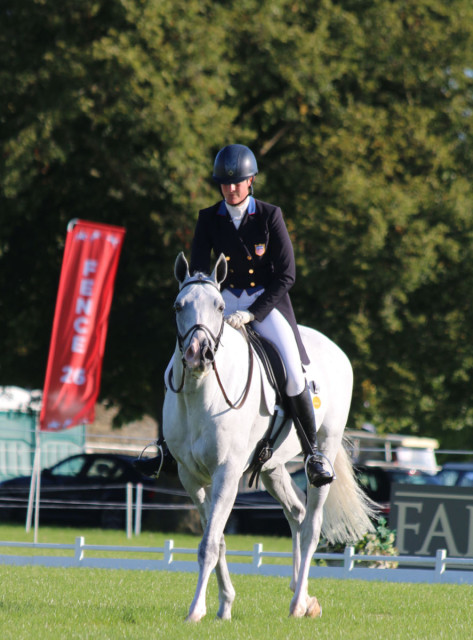 Lauren Kieffer and Landmarks Monte Carlo complete their CIC 3* test at Blenheim Palace.  Photo by Samantha Clark.