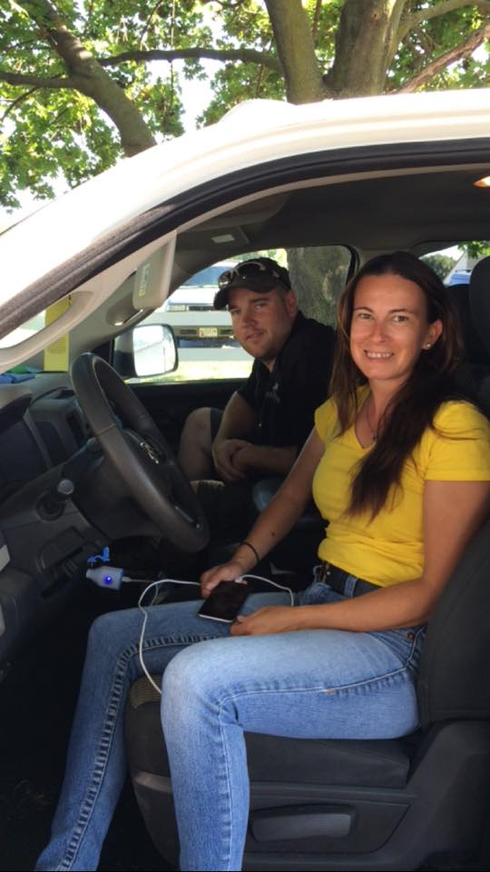 Kate Chadderton and EN's own David Taylor en route to JFK airport. Photo via Kate Chadderton.