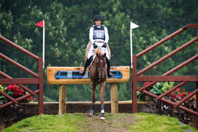 Michael Jung and fischerTakinou on cross country at Blair. Photo by Jon Stroud/FEI.