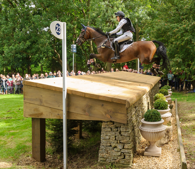 Laine Ashker and Anthony Patch at Burghley 2015. Photo by Nico Morgan.
