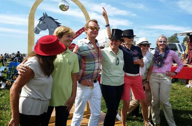 Carson Kressley judging the tailgating competition at Plantation Field in 2014. Photo by Josh Autry.