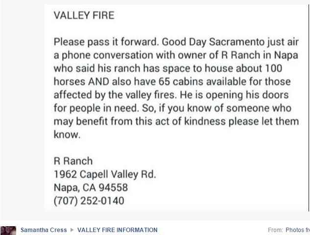 R Ranch Fire