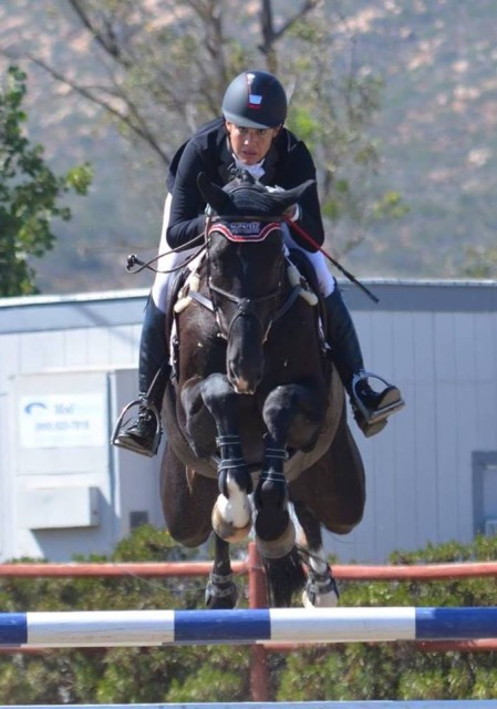 Tamra Smith and Mai Baum competing at Copper Meadows in the CIC3* Photo by Natalie Kuhny