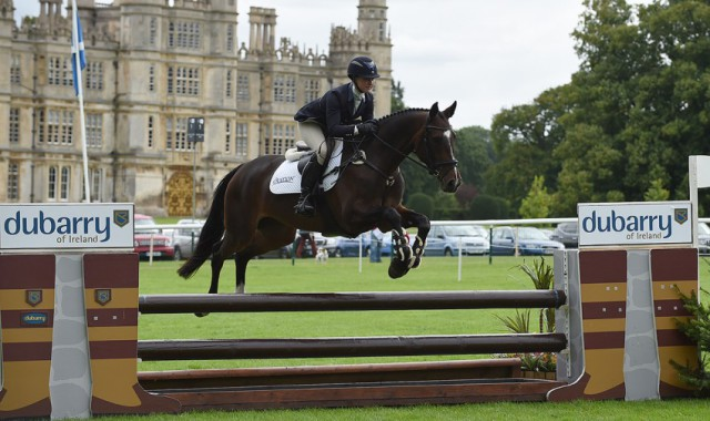 Tiana Coudray and Cavalier Crystal on their way to winning the Burghley Young Event Horse 5-Year-Old class. Photo by Peter Nixon/Burghley.