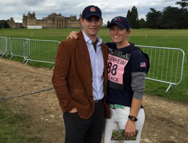 Tim and Elisa at Blenheim palace horse trails. Photo from Timothy Harfield's Facebook page