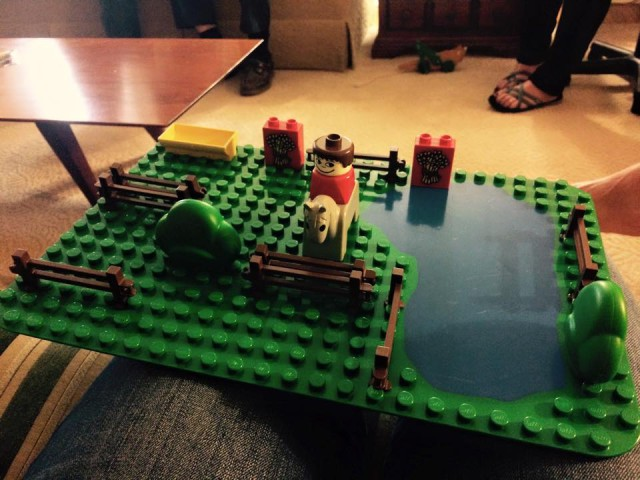 Horse people will make everything horse related. Lego XC from Alison Robinson's Facebook Page