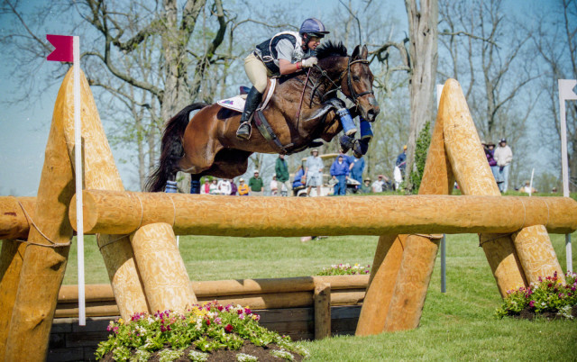 David O'Connor and Giltedge on their way to winning the Rolex Kentucky Three-Day Event in 2001. Photo used with permission from Shannon Brinkman.