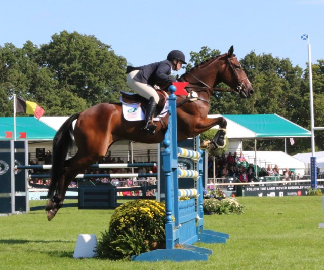 Colleen Rutledge and Covert Rights jump clear! Photo by Samantha Clark.