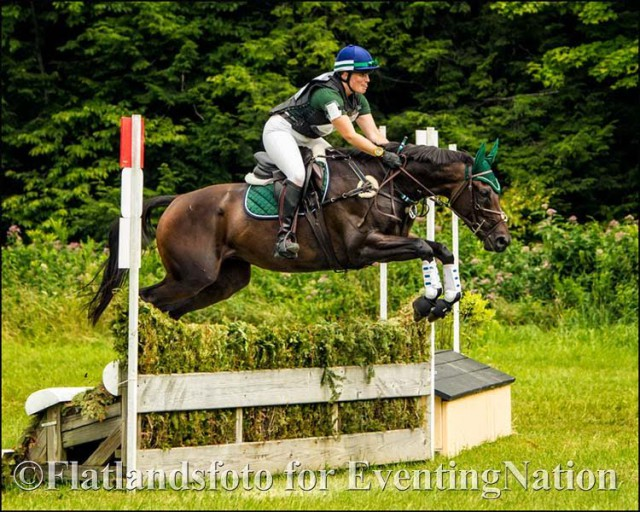 Ashley Taylor and Untouchable Rock at the GMHA Festival of Eventing. Photo by Joan Davis, Flatlands Foto.