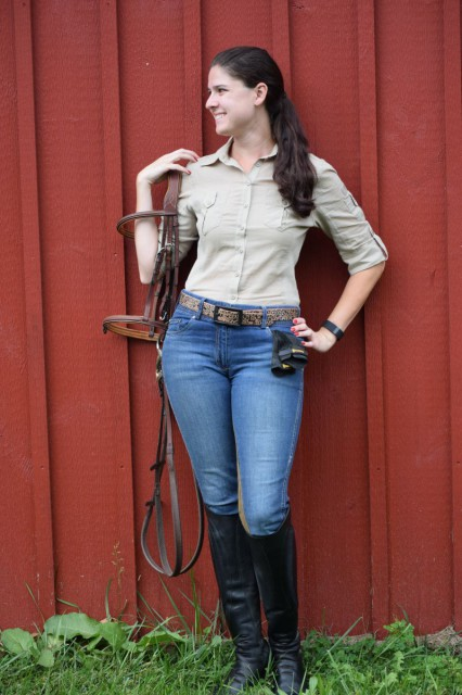I liked the crisp and clean styling of the Favorite Shirt, combined with the all of the little details that were incorporated into the design of the Equestrian Jean. Photo by Lorraine Peachey.