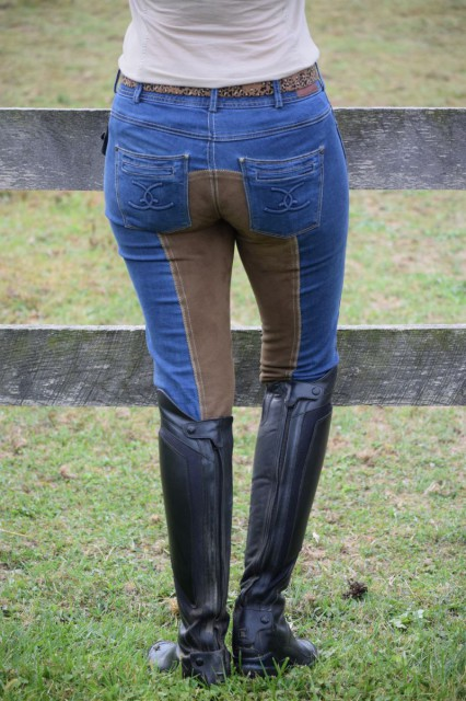 The denim of the Equestrian Jeans felt really soft and well broken in, which was pretty surprising, considering they were brand new. Photo by Lorraine Peachey.