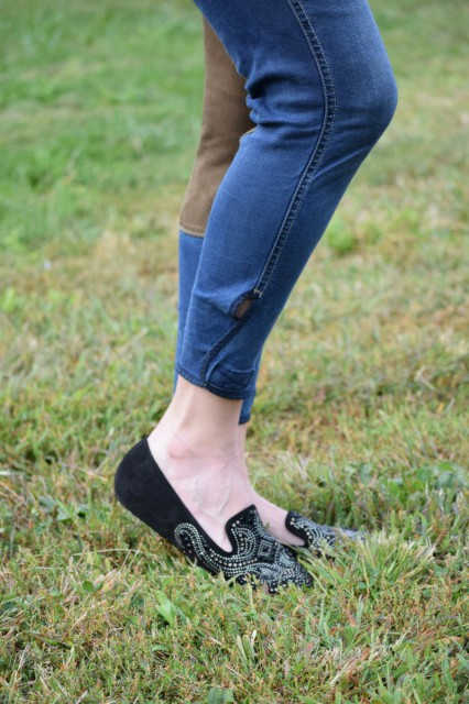 The bottoms of the legs of the Equestrian Jeans also have velcro to allow you to adjust to get just the right fit. Photo by Lorraine Peachey.