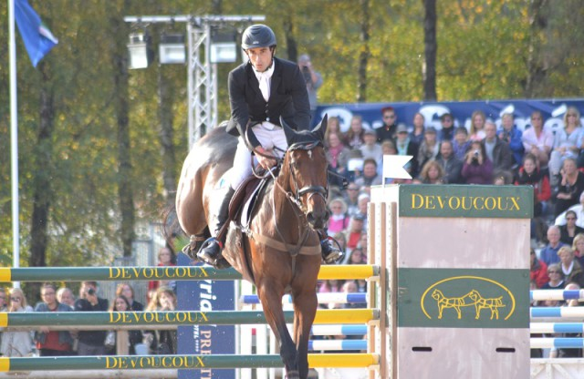 Astier Nicolas and Piaf De B'Neville at Pau in 2015. Photo by Leslie Wylie.