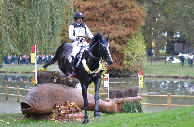 Michael Jung and Halunke FBW at Pau. Photo by Leslie Wylie.