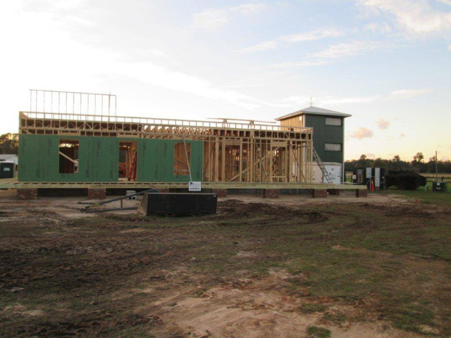 Construction on the new administrative building at Bruce's Field is expected to be completed soon. Photo courtesy of Aiken Horse Park Foundation.