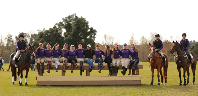 The Clemson Intercollegiate Eventing Team with Buck Davidson. Photo by Olga Mohr Photography.