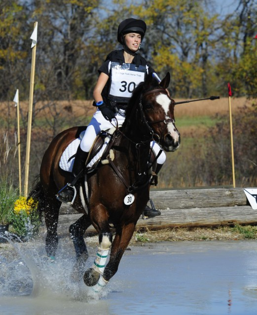 Sierra and Lexi Robinson compete at Heritage Park Horse Trials. Photo courtesy of Merrick Studios.