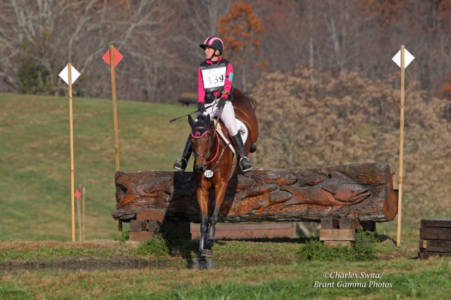 Courtney Sendak and DGE Kiss Prints on the Preliminary course at VHT. Photo by Brant Gamma.