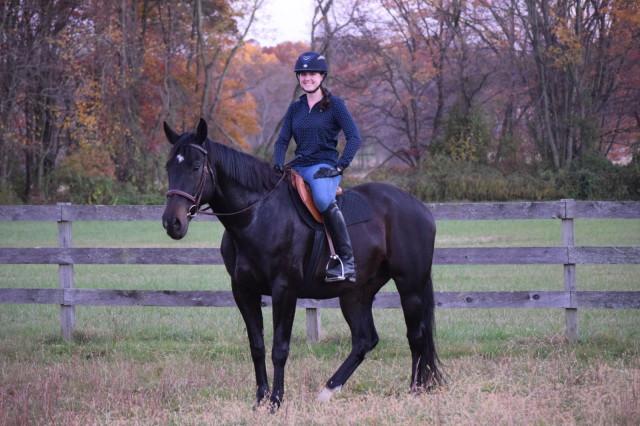 Me and my 'baby pony', Rufus. Photo by Lorraine Peachey.