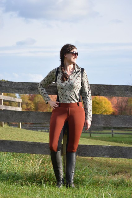 The combination of the Polartec Windpro fabric, paired with a cozy fleece lining certainly helps the Sit Tight N Warm Winter Breeches to keep me more comfortable on cold days. Photo by Lorraine Peachey.