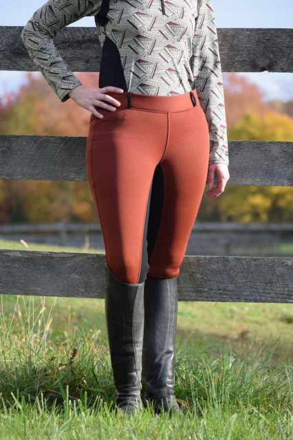 "Another feature that enhanced the comfort of the Kerrits Sit Tight N Warm Wintr Breeches is the 2"" no roll waistband, which stretches to provide a close fit around the waist, without feeling too snug. Photo by Lorraine Peachey."