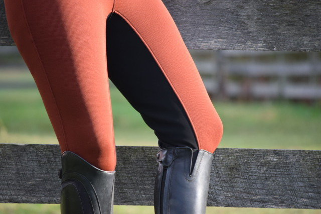And in terms of riding, the GripStretch Suede translates into a full seat that feels grippy...which I like because I feel like I can get a better seat. Photo by Lorraine Peachey.