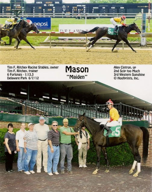 Mason's big win! Photo by Hoofprints Inc.