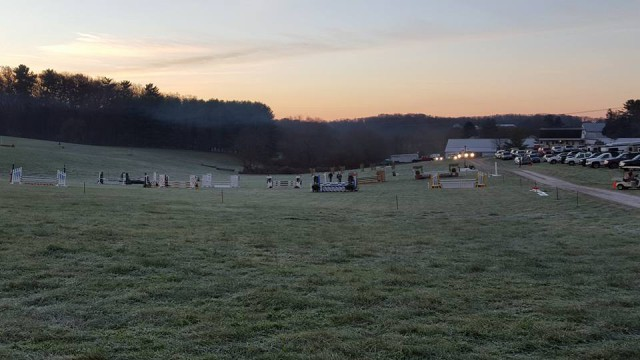 A beautiful morning for an event at Full Moon Farm. Photo from Karen Fulton's Facebook Page