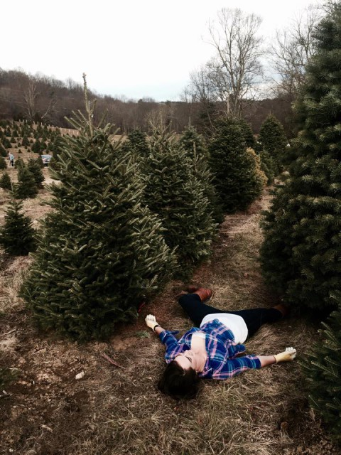 This is how cutting down three christmas trees made me feel.