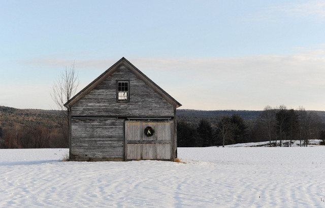 What kind of holiday decorations are okay to use around the barn? Photo by Paul Franz, from Flickr.com, under the Creative Commons License