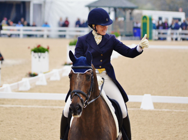 Allison Springer and Arthur  at Rolex. Photo by Jenni Autry.